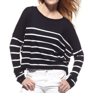 VINCE Cashmere Blend Striped Slouchy Sweater